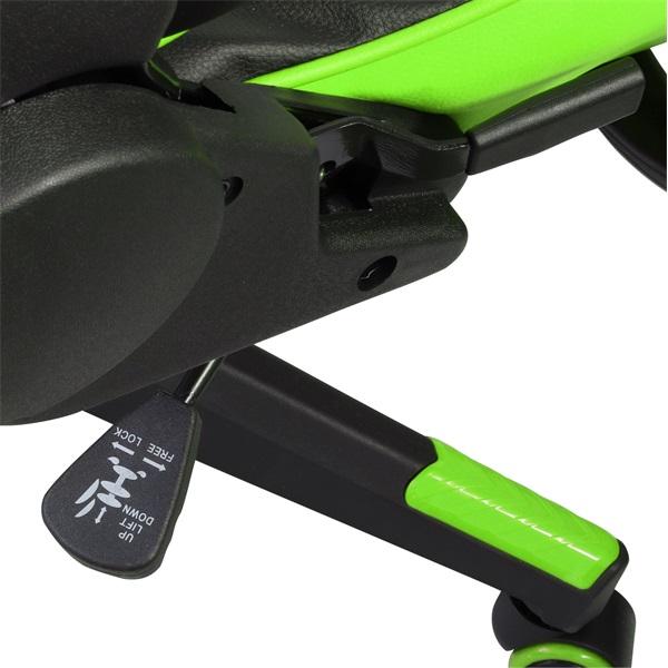 Iris GCH201BE fekete / zöld gamer szék - 6