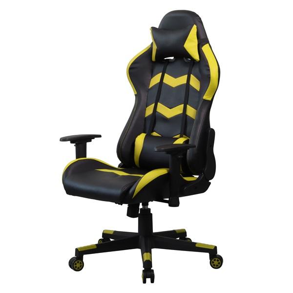 Iris GCH203BC fekete / citromsárga gamer szék - 2