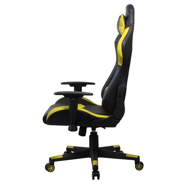 Iris GCH203BC fekete / citromsárga gamer szék - 3