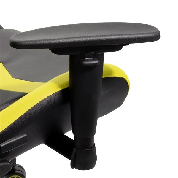 Iris GCH203BC fekete / citromsárga gamer szék - 4