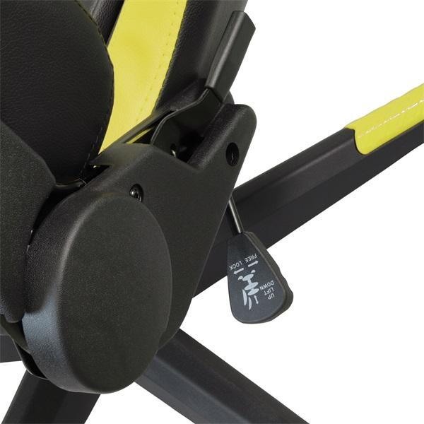 Iris GCH203BC fekete / citromsárga gamer szék - 5