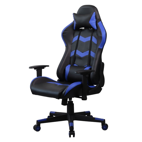 Iris GCH203BK fekete / kék gamer szék - 2