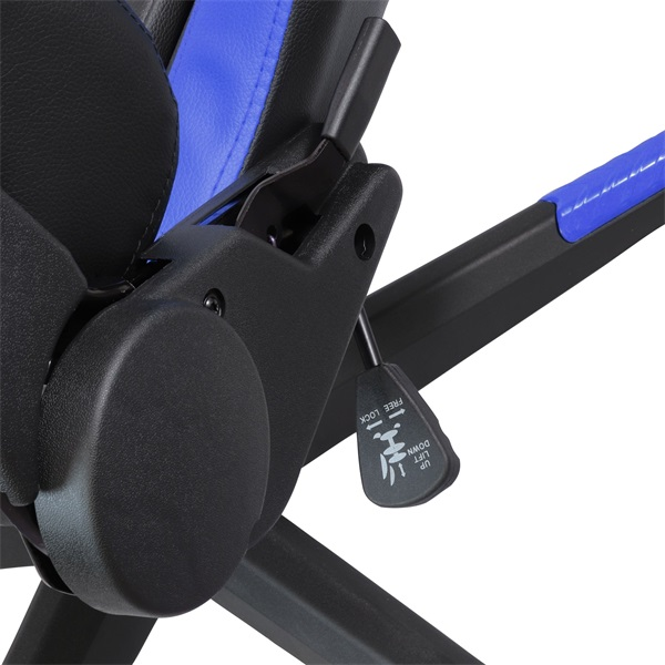 Iris GCH203BK fekete / kék gamer szék - 5