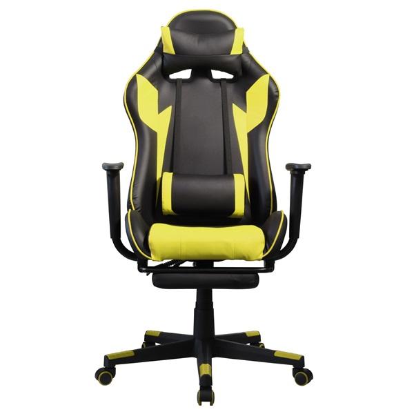 Iris GCH204BC_FT fekete / citromsárga gamer szék - 1
