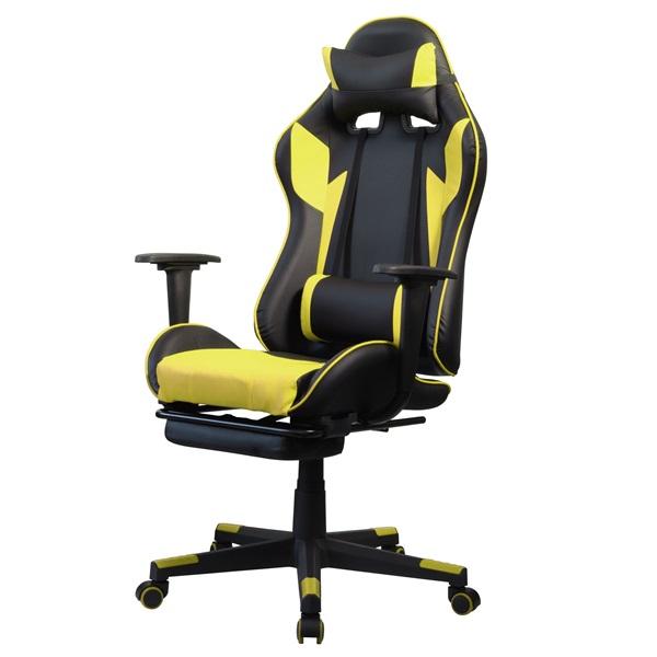 Iris GCH204BC_FT fekete / citromsárga gamer szék - 2