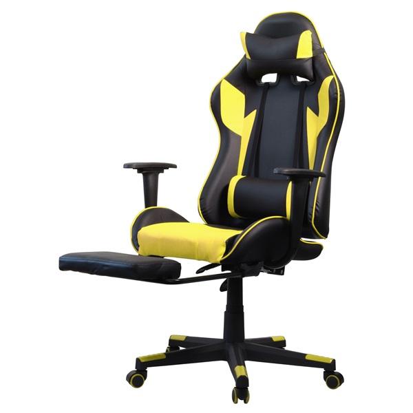 Iris GCH204BC_FT fekete / citromsárga gamer szék - 3