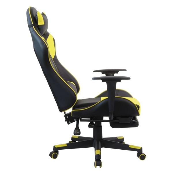 Iris GCH204BC_FT fekete / citromsárga gamer szék - 5