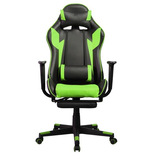 Iris GCH204BE_FT fekete / zöld gamer szék - 1