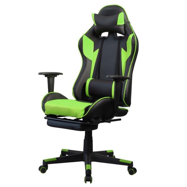 Iris GCH204BE_FT fekete / zöld gamer szék - 2