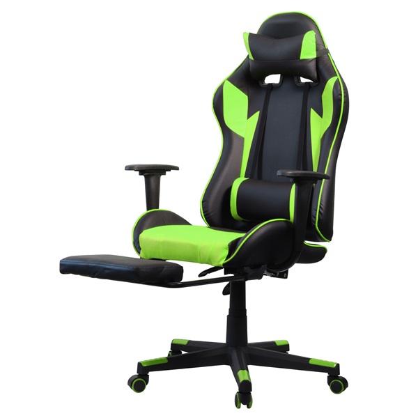Iris GCH204BE_FT fekete / zöld gamer szék - 3