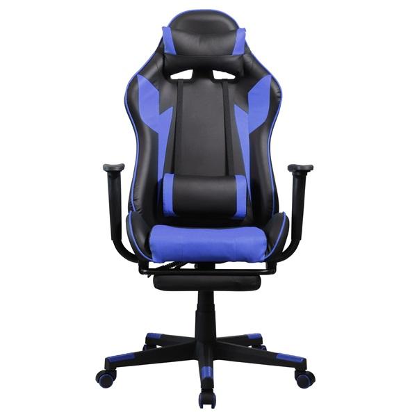 Iris GCH204BK_FT fekete / kék gamer szék - 1