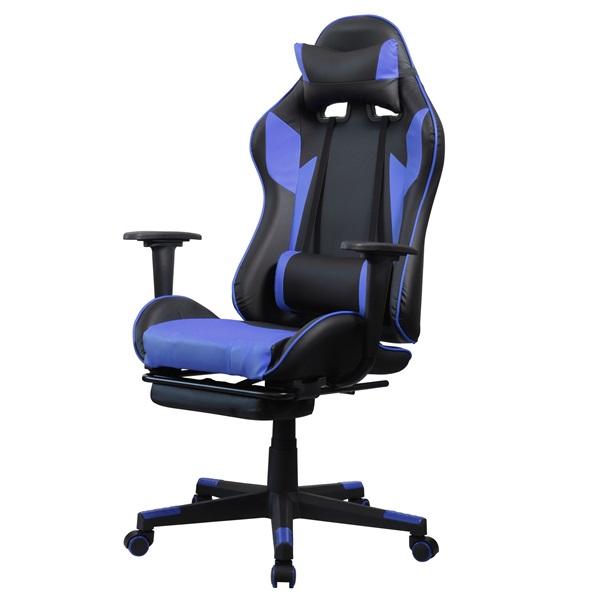Iris GCH204BK_FT fekete / kék gamer szék - 2