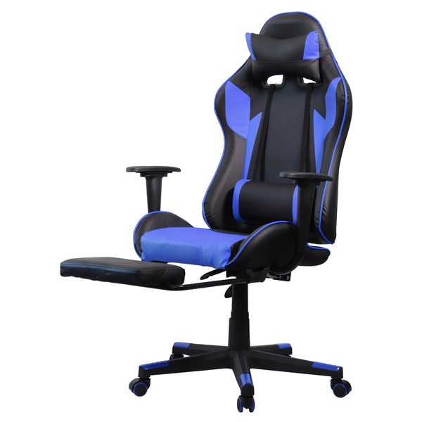 Iris GCH204BK_FT fekete / kék gamer szék - 3