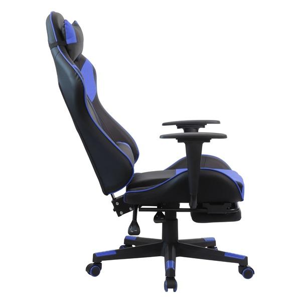 Iris GCH204BK_FT fekete / kék gamer szék - 5