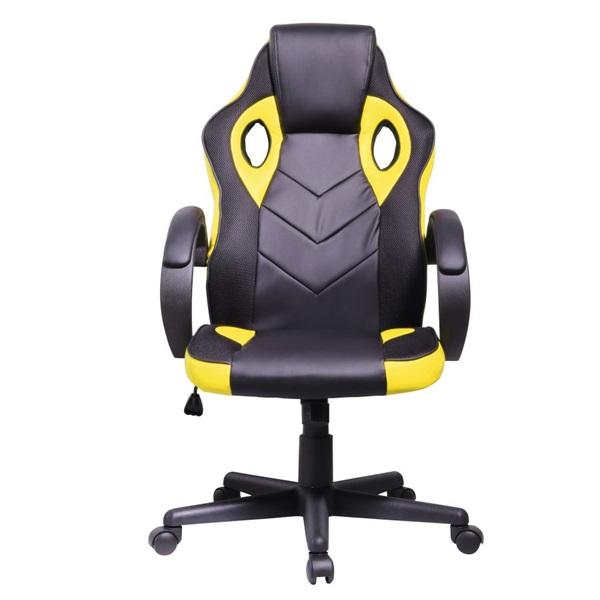 Iris GCH205BC fekete / citromsárga gamer szék - 1