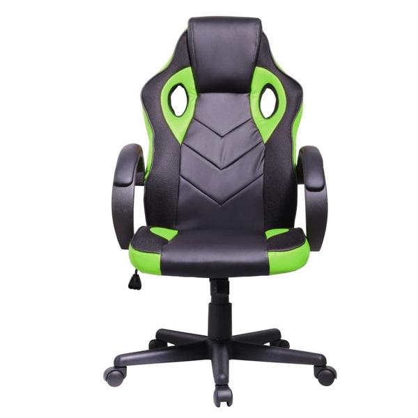 Iris GCH205BE fekete / zöld gamer szék - 1
