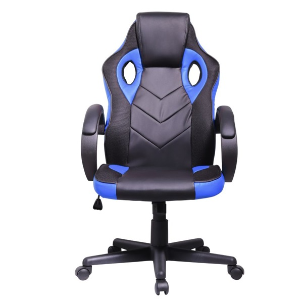 Iris GCH205BK fekete / kék gamer szék - 1