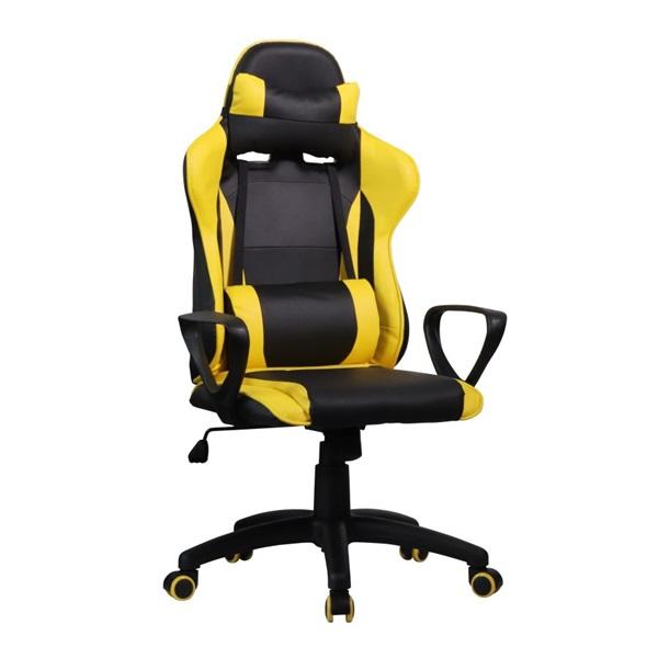 Iris GCH207BC fekete / citromsárga gyerek gamer szék - 1