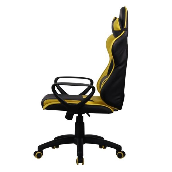 Iris GCH207BC fekete / citromsárga gyerek gamer szék - 2