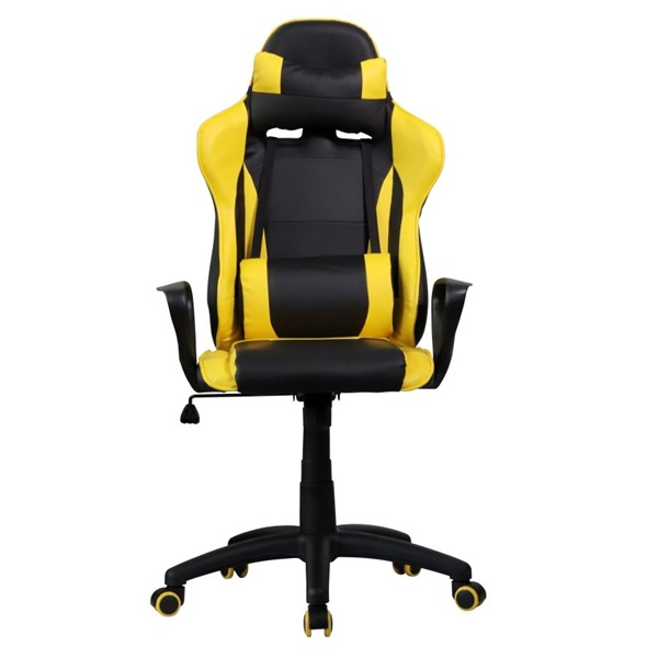 Iris GCH207BC fekete / citromsárga gyerek gamer szék - 4