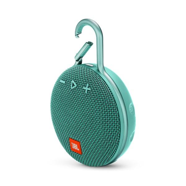 JBL CLIP 3 türkiz vízálló Bluetooth hangszóró - 1