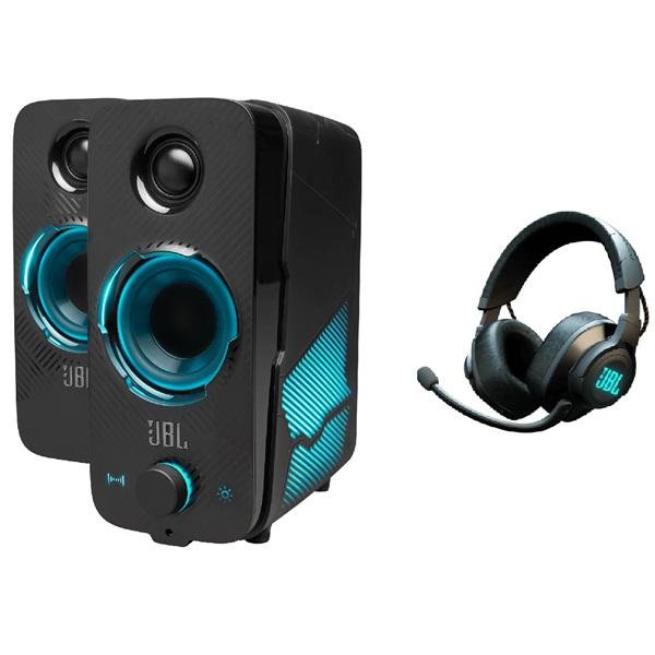 JBL Quantum Duo Bluetooth gamer hangszóró + Quantum 600 fekete vezeték nélküli gamer fejhallgató csomag - 1