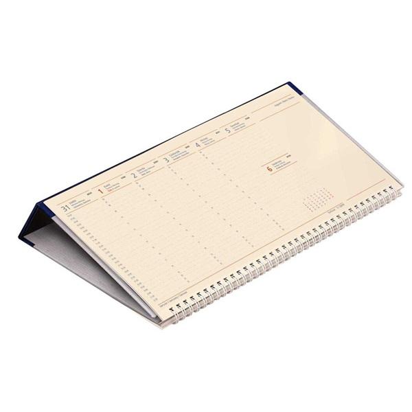 Kalendart 2021-es C050 jegyzettömbös fekvő kék sárga papíros asztali naptár - 2