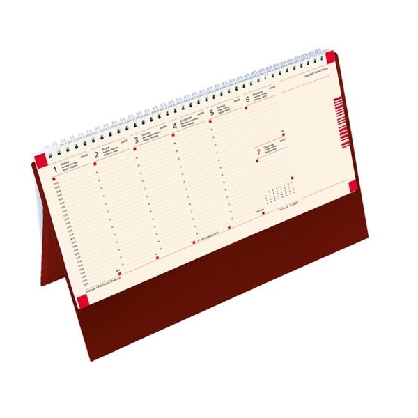 Kalendart 2021-es C051 jegyzet álló bordó asztali naptár - 1