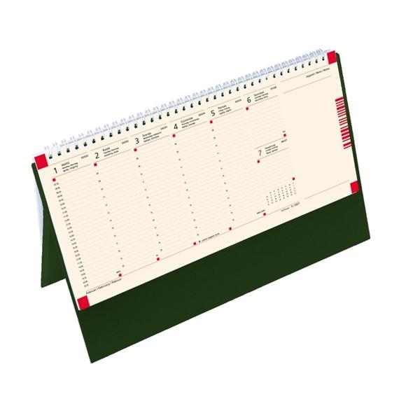 Kalendart 2021-es C051 jegyzettömbös zöld sárga papíros álló asztali naptár - 1