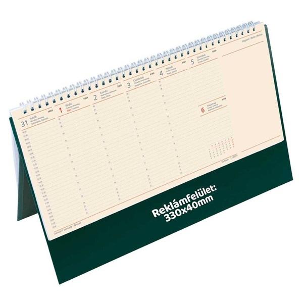 Kalendart 2021-es C051 jegyzettömbös zöld sárga papíros álló asztali naptár - 2
