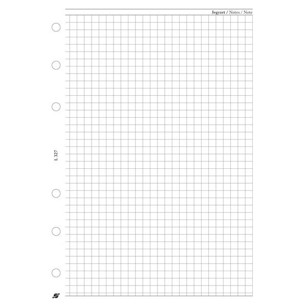 Kalendart 2021-es L327/F négyzethálós lap gyűrűs betétlap - 1