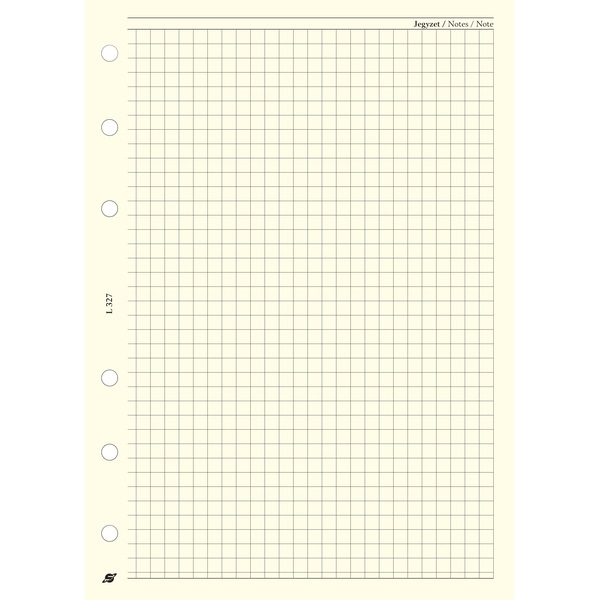 Kalendart 2021-es Saturnus L327 négyzethálós lap gyűrűs betétlap - 1