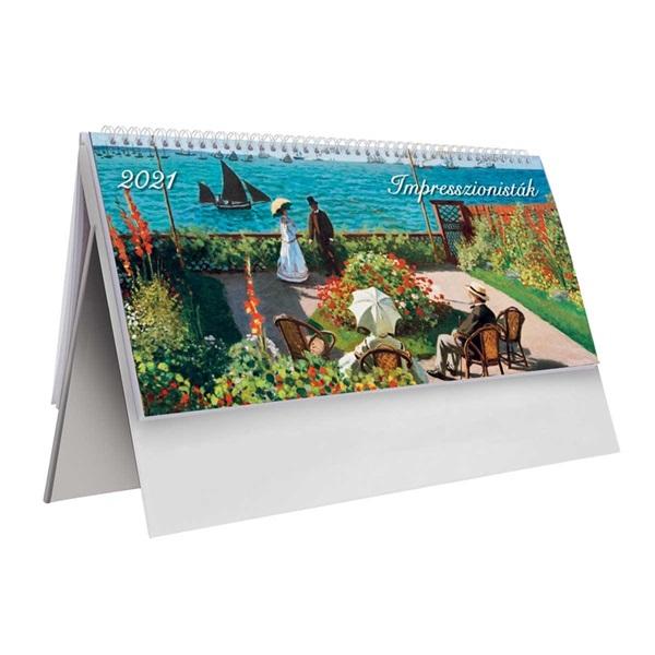 Kalendart 2021-es T054 impresszion álló papír asztali naptár - 1