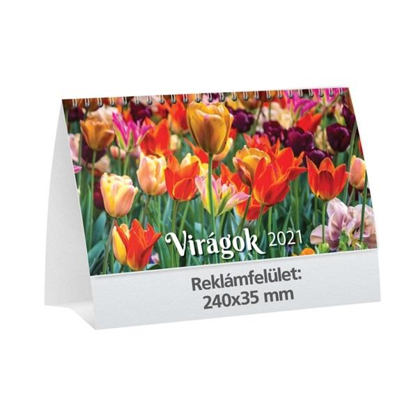Kalendart 2021-es T058 virágok asztali naptár - 1