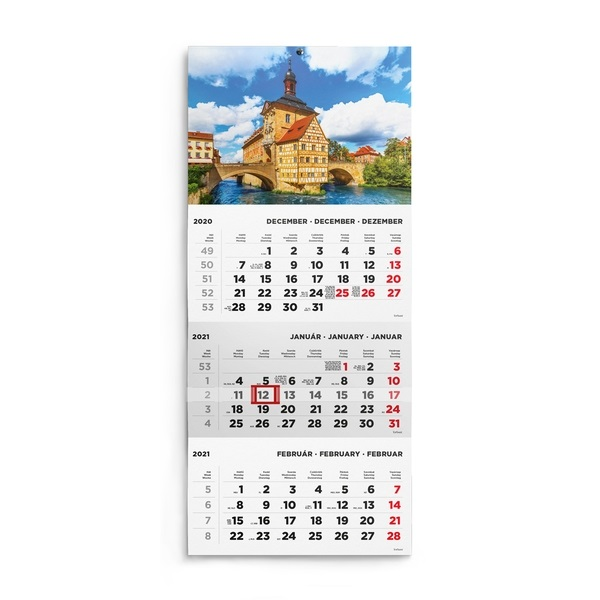 Kalendart 2021-es T072 1 tömb kastély mintás speditőrnaptár - 1