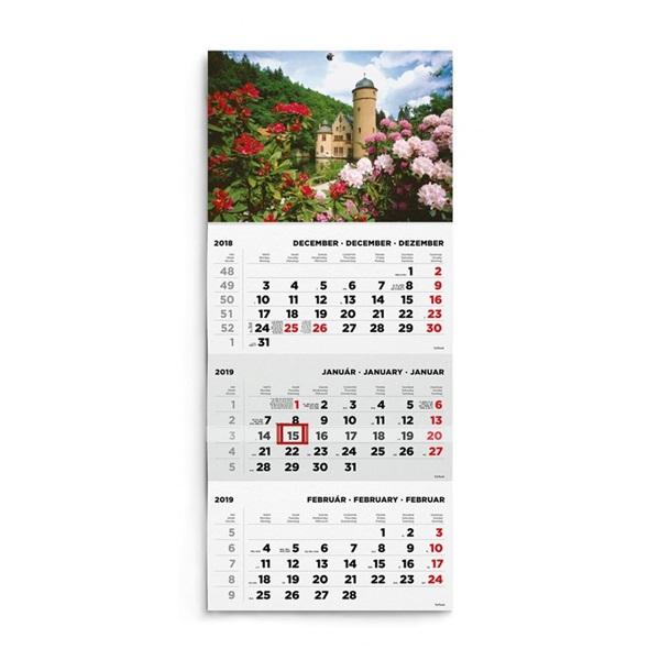 Kalendart 2021-es T072 1 tömb kastély mintás speditőrnaptár - 2