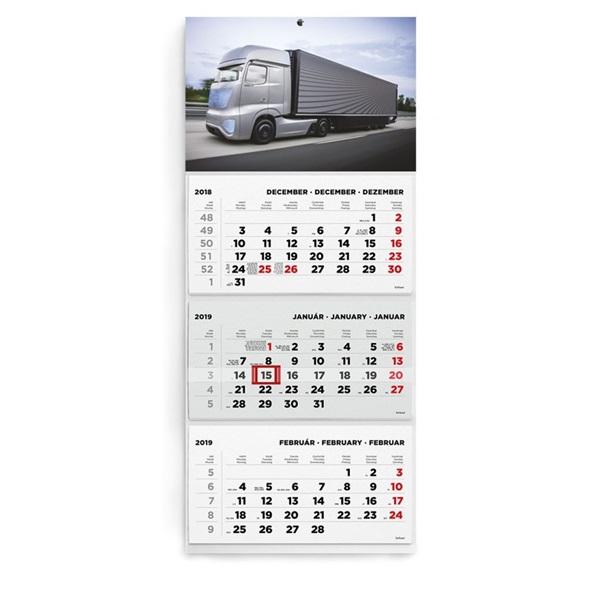 Kalendart 2021-es T074 3 tömb kamion mintás speditőrnaptár - 2