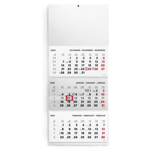 Kalendart 2021-es T074 3 tömb minta nélküli speditőrnaptár - 1