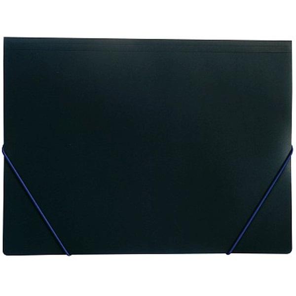 Karton P+P A4 fekete gumis mappa - 1