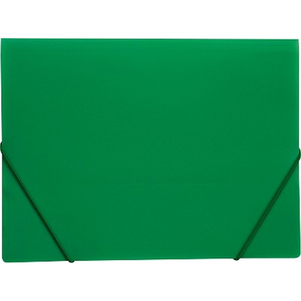 Karton P+P A4 zöld gumis mappa - 1