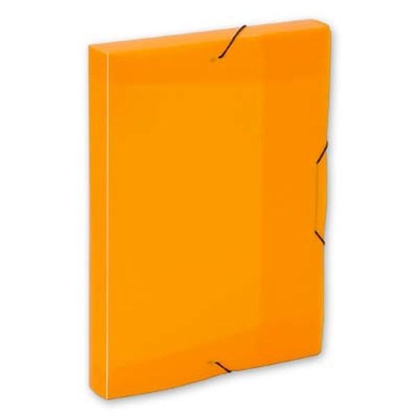 Karton P+P Opaline A4 műanyag áttetsző narancssárga gumis box - 1