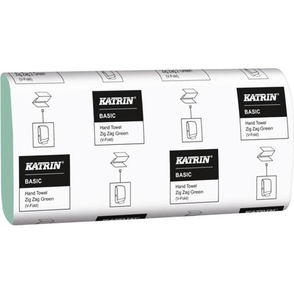 Katrin Classic 150 lap/csomag 2 rétegű Z hajtogatású zöld kéztörlő - 2