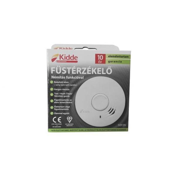 KIDDE 10Y29 beépített lítium akkumulátorral/hang- és fényjelzéssel/kompakt optikai füstérzékelő - 3