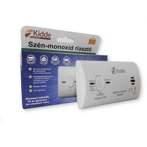 KIDDE 7CO cserélhető elemmel/hang- és fényjelzéssel/kompakt szén-monoxid érzékelő - 1