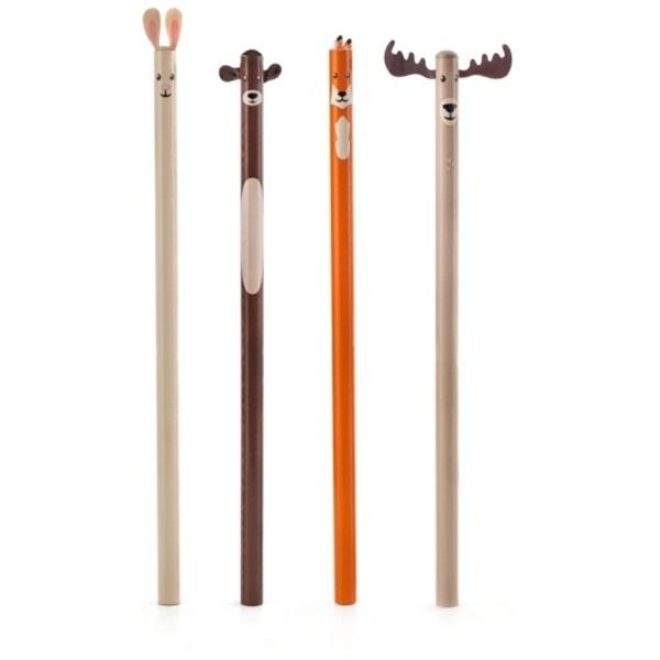 Kikkerland S/4 erdei állatos ceruza - 2