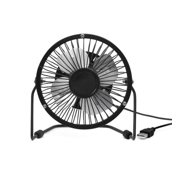 Kikkerland US143-BK-EU USB-s fekete asztali ventilátor - 1