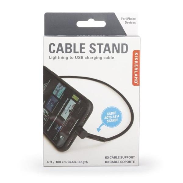 Kikkerland US200-EU iPhone csatlakozós töltő kábel és telefontartó - 2