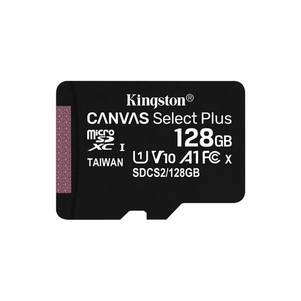 Kingston 128GB SD micro Canvas Select Plus (SDXC Class 10 A1) (SDCS2/128GBSP) memória kártya - 1