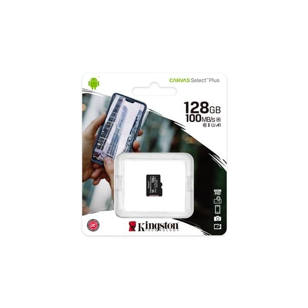 Kingston 128GB SD micro Canvas Select Plus (SDXC Class 10 A1) (SDCS2/128GBSP) memória kártya - 2
