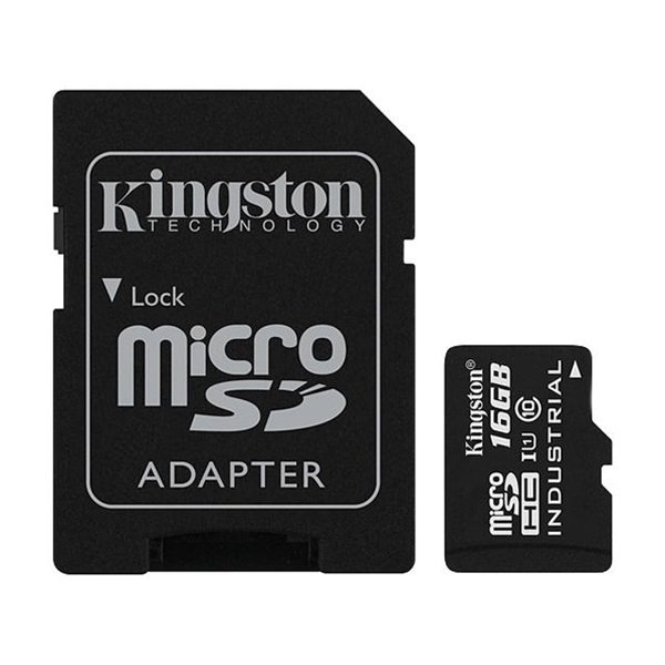 Kingston 16GB SD micro (SDHC Class 10 UHS-I)Industrial Temp Card (SDCIT/16GB) memória kártya adapterrel - 1